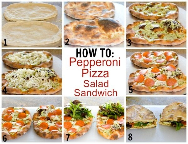 How to make Pepperoni Pizza Salad Sandwich