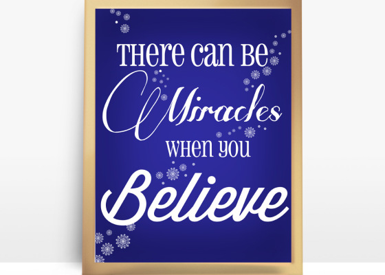 Miracles when you Believe 1