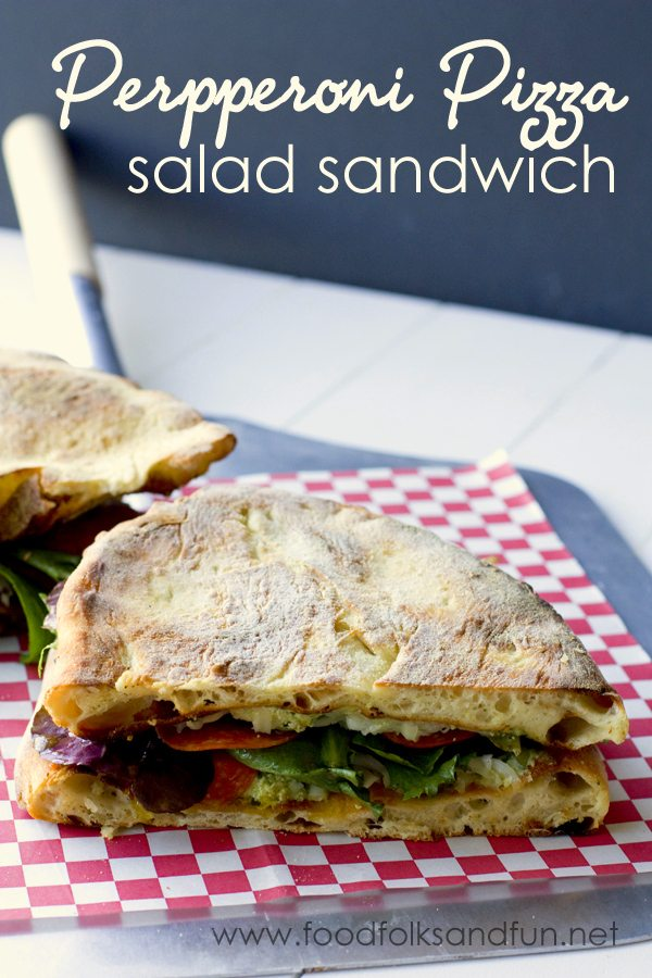 Pepperoni Pizza Salad Sandwich 1a