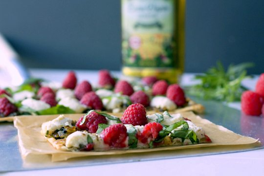 Raspberry and Ricotta Flatbread Recipe