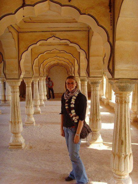 Standing at Amber Fort