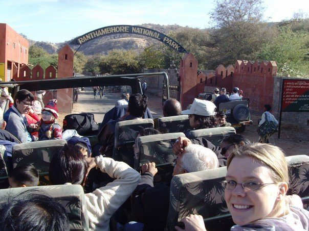 Right before a Tiger Safari in Ranthambore National Park.