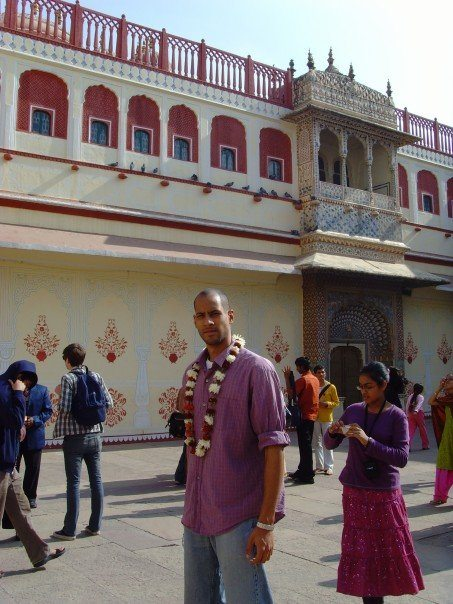 on a street in Jaipur, India