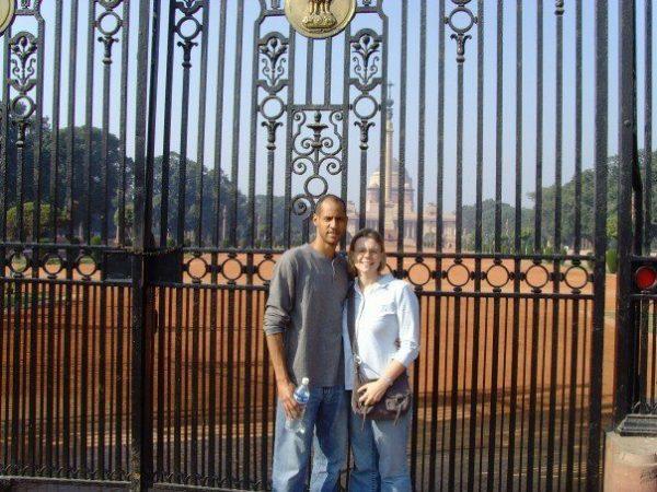 Standing in New Delhi, India.