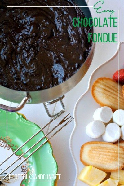 Easy Chocolate Fondue Recipe 1