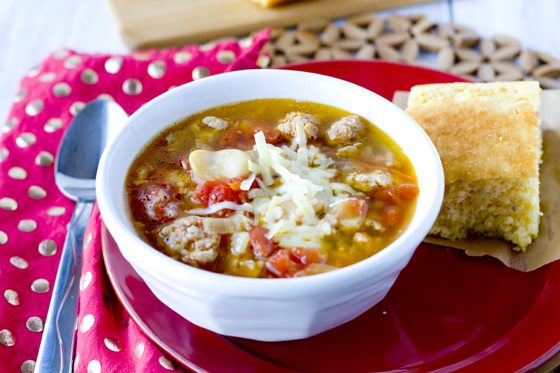 Sausage & Butter Bean Soup 30 minute recipe 1