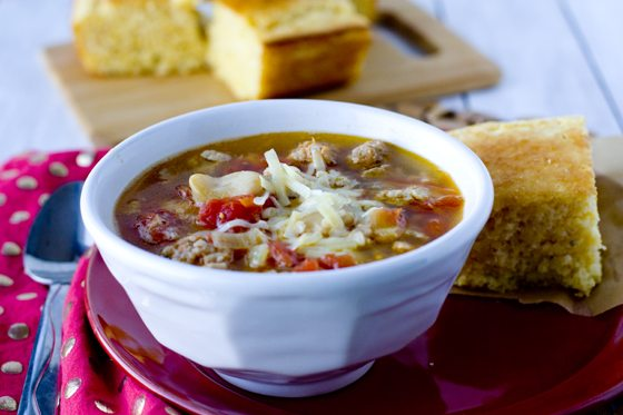 Sausage & Butter Bean Soup 30 minute recipe 2