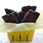 A basket of Brownie Brittle pieces