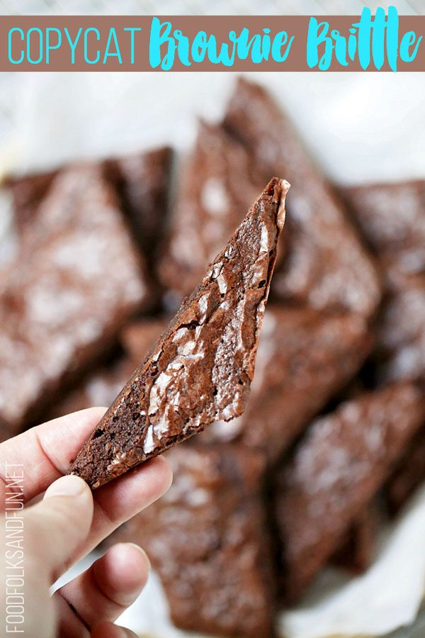 Quick and easy Brownie Brittle Recipe made from a box mix!