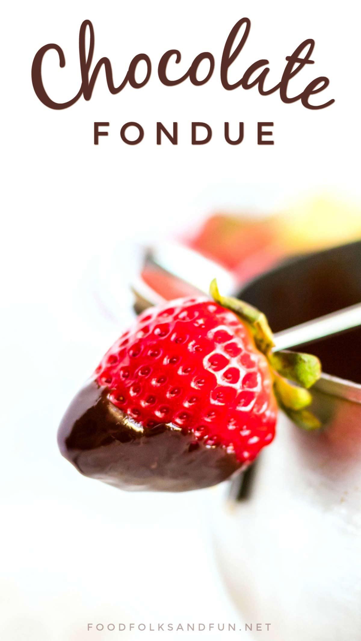 Velvety Chocolate Fondue