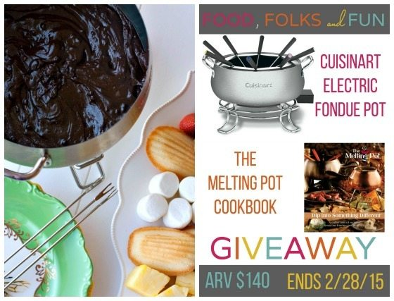 Easy Chocolate Fondue Recipe & a Fondue Set Giveaway! #FoodIsLove