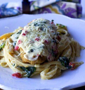 Skinnier Tuscan Garlic Chicken on a plate