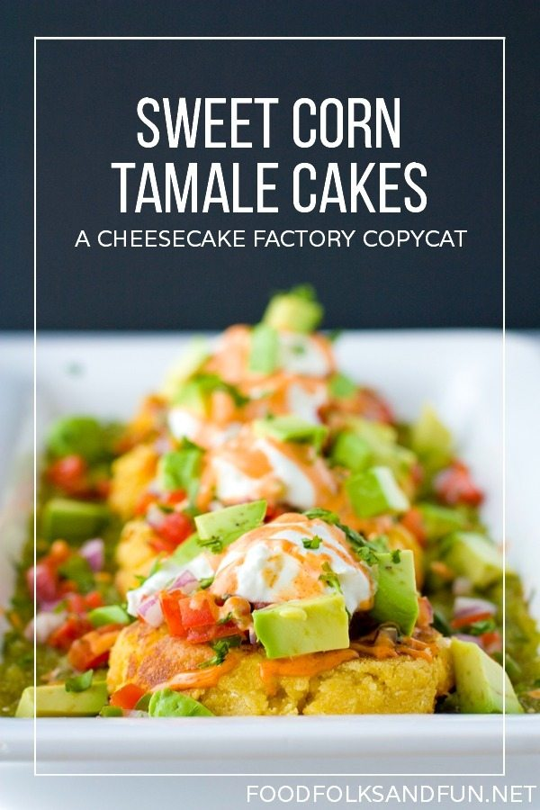 Sweet corn tamale cakes recipe