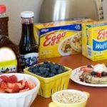 Ingredients needed for a Very Berry Waffle Bar