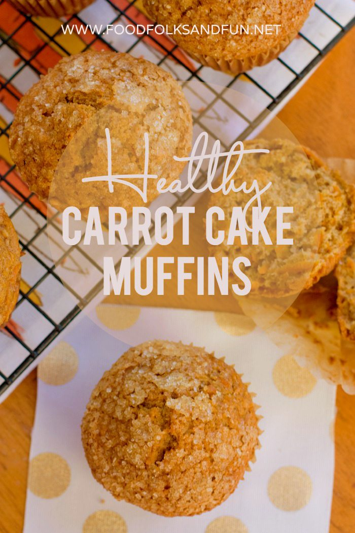 Healthy Carrot Cake Muffins Recipe via @foodfolksandfun