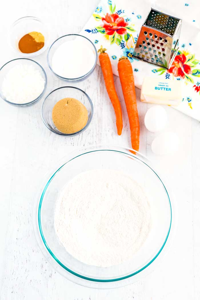 All of the ingredients for Carrot Cake Whoopie Pies