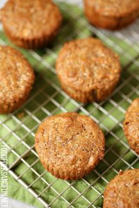 Carrot Cake Muffins on a wire rack