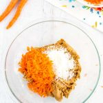 Add in the carrots and coconut.