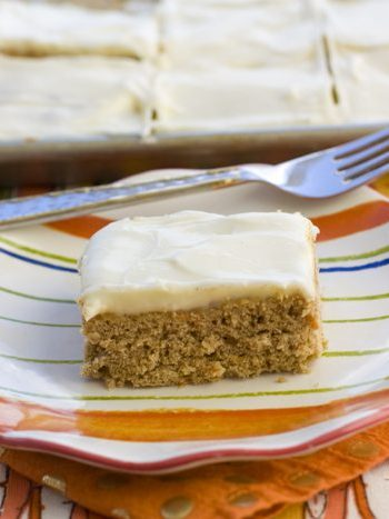 A slice of Large batch carrot cake cookie bars on a plate