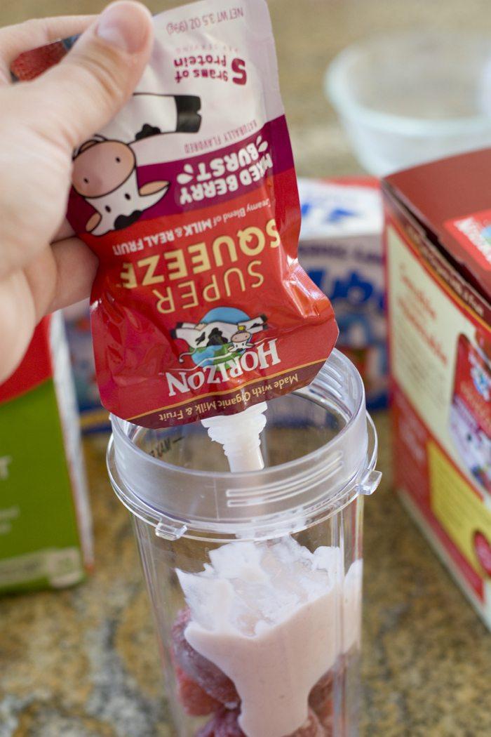 Making a Strawberries & Cream Smoothie