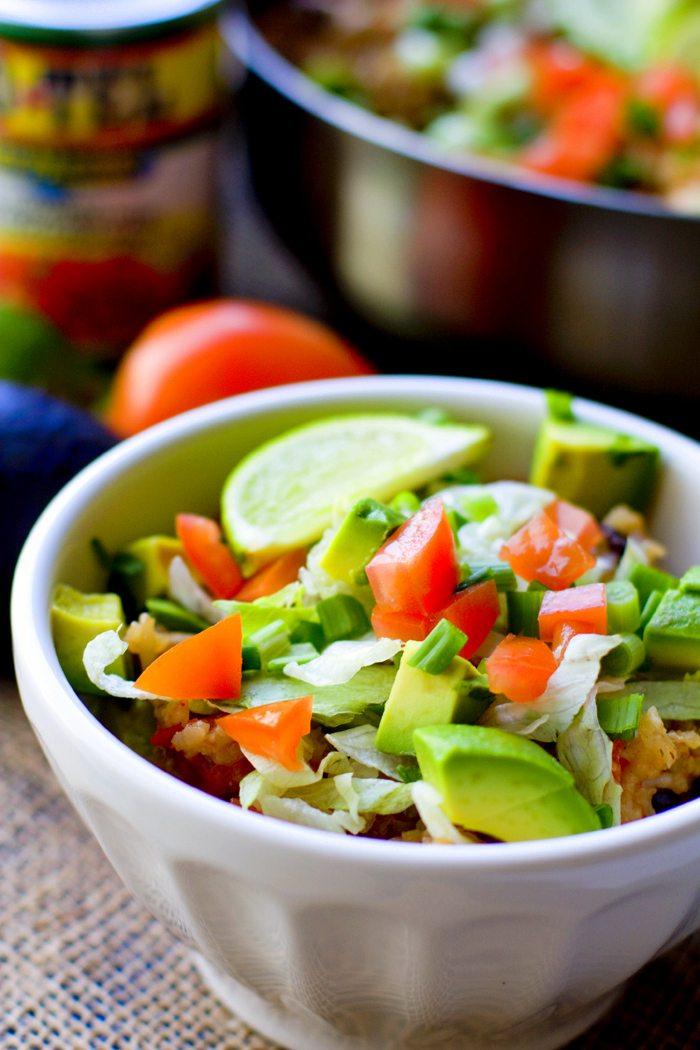 One Pot Chicken Burrito Bowls Recipe 4