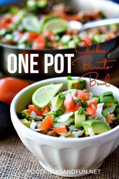One Pot Chicken Burrito Bowls Recipe 6