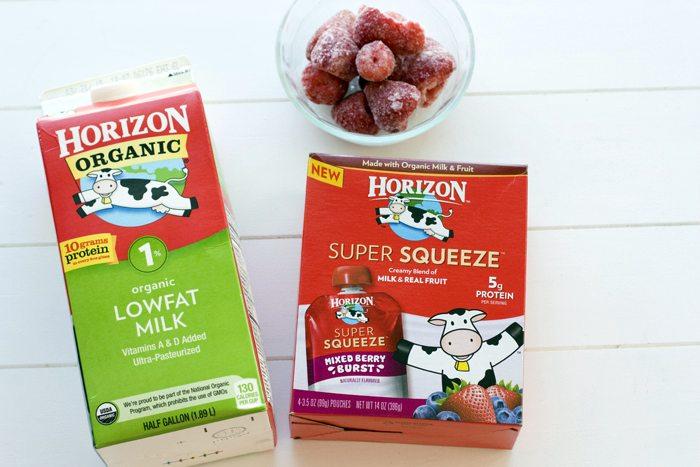 Strawberry & Cream Smoothie Ingredients