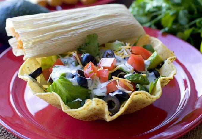 Taquito & Tamale Taco Salad Recipes