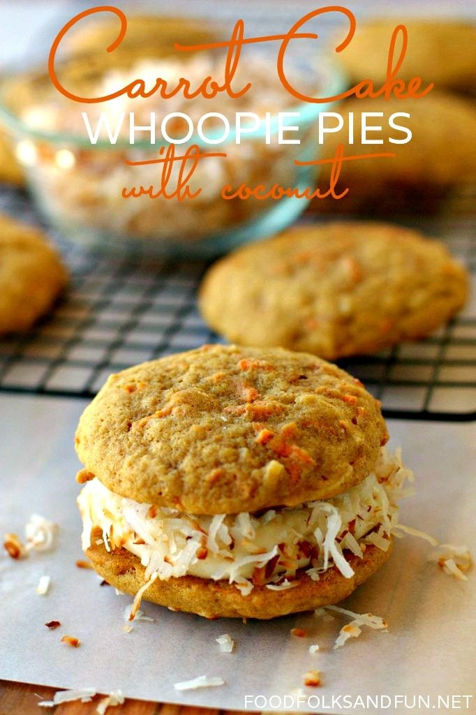 Carrot Cake Whoopie Pies Recipe with Coconut 3