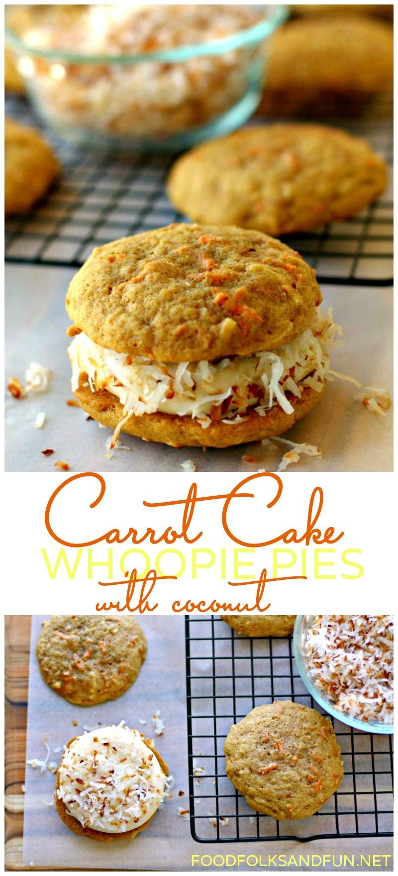 Carrot Cake Whoopie Pies Recipe with Coconut 6