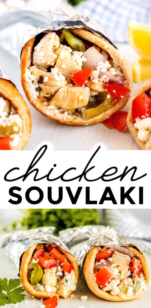 This Stovetop Chicken Souvlaki Recipe is easy to make and takes just 40 minutes to make! The chicken is tender and it is bursting with bright, Greek flavors. via @foodfolksandfun