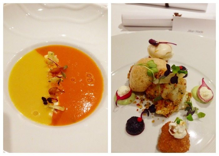 A collage of Bisque our Way and Sea Bass