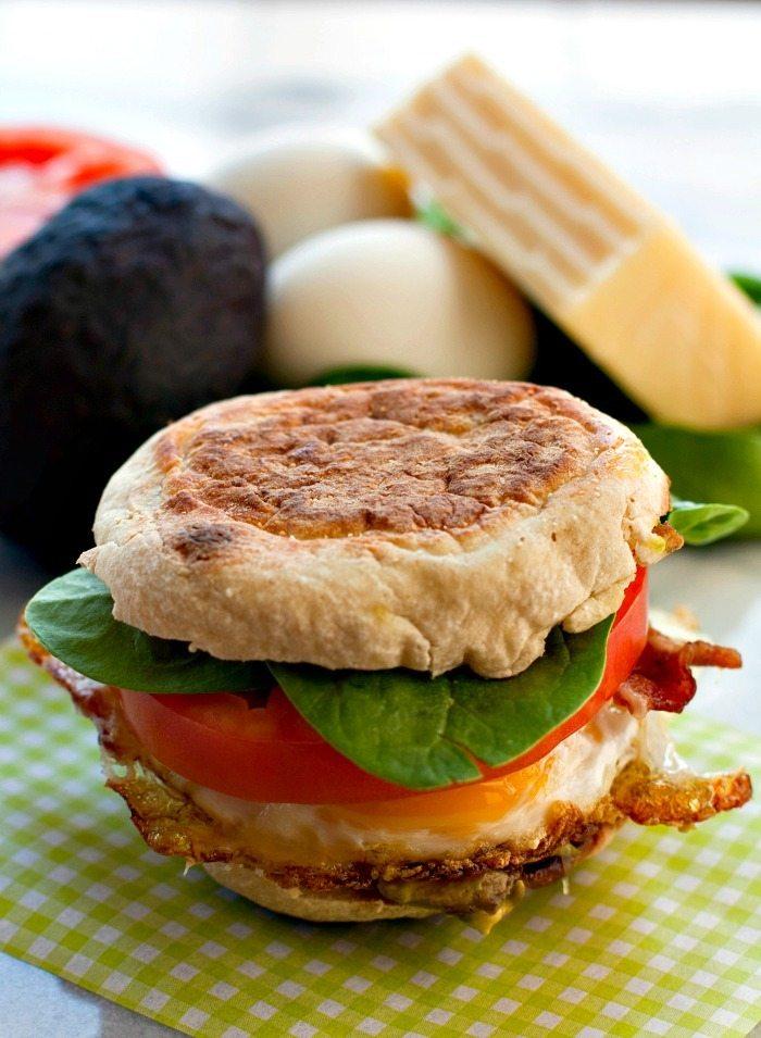 Egg Cheddar Bacon Avocado Sandwich Recipe