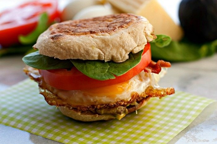 Egg Cheddar Bacon Sandwich