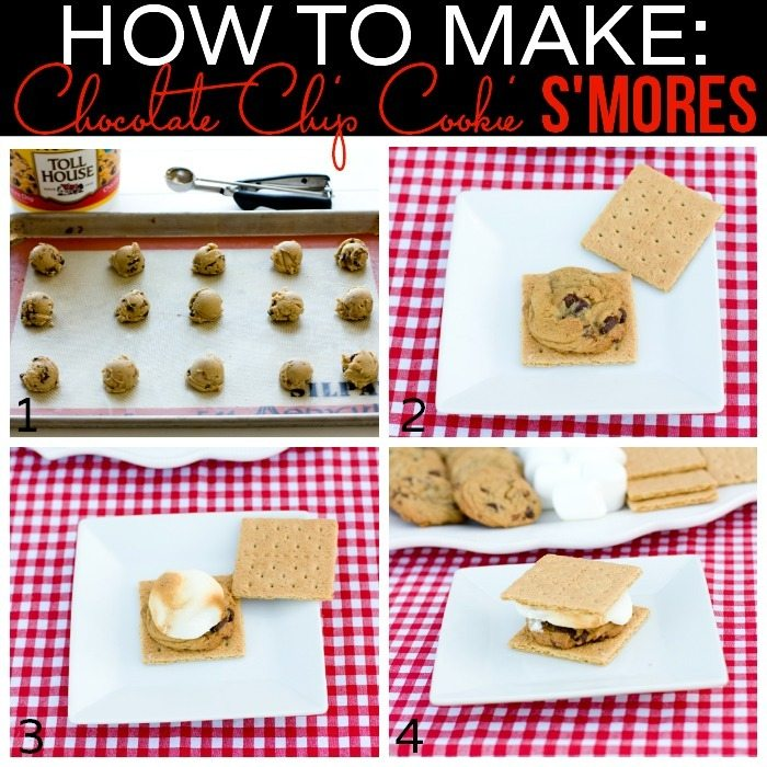 How to Make Chocolate Chip Cookie S'Mores