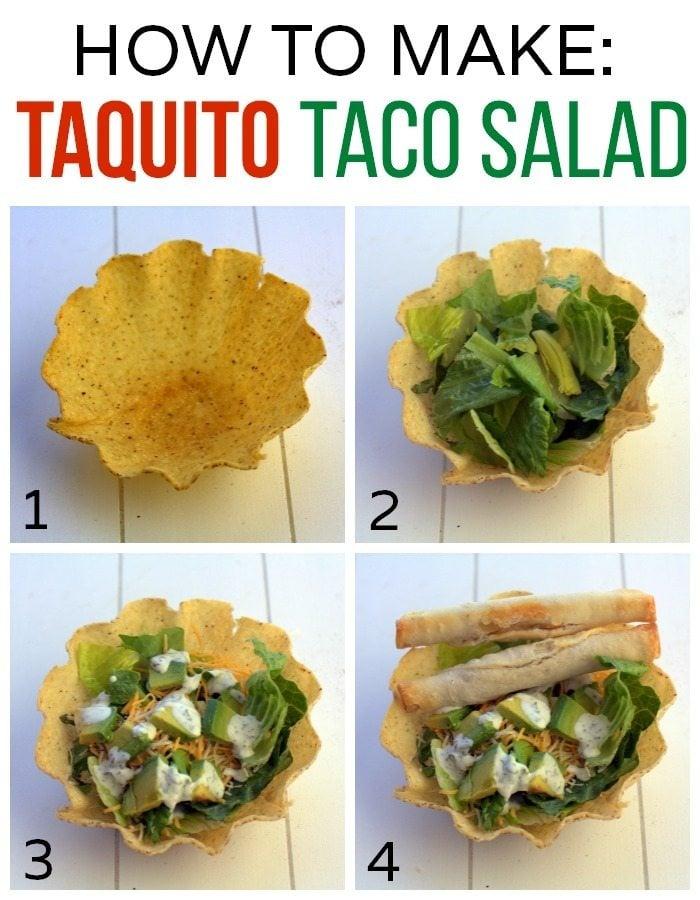 How to Make Taquito Taco Salad