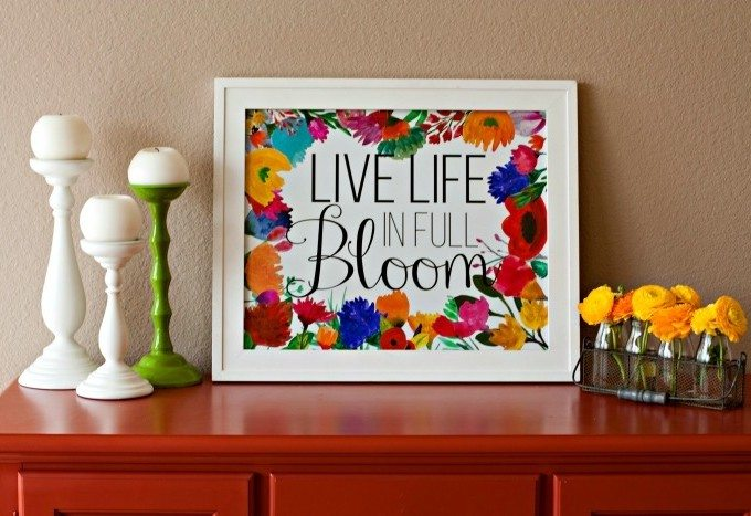 Live Life in Full Bloom – FREE Spring Printable