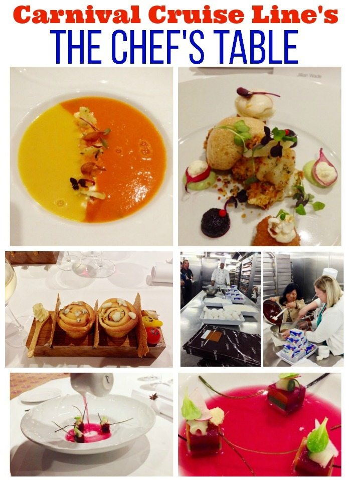 The Chef's Table - Carnival Cruise Line's