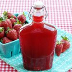A bottle of Strawberry Syrup