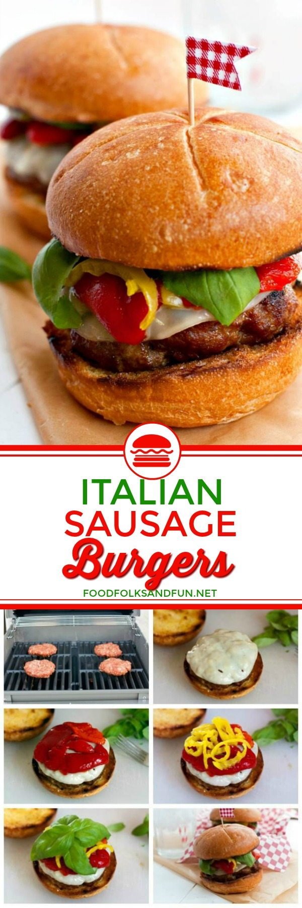 Easy Grilled Italian Sausage Burgers