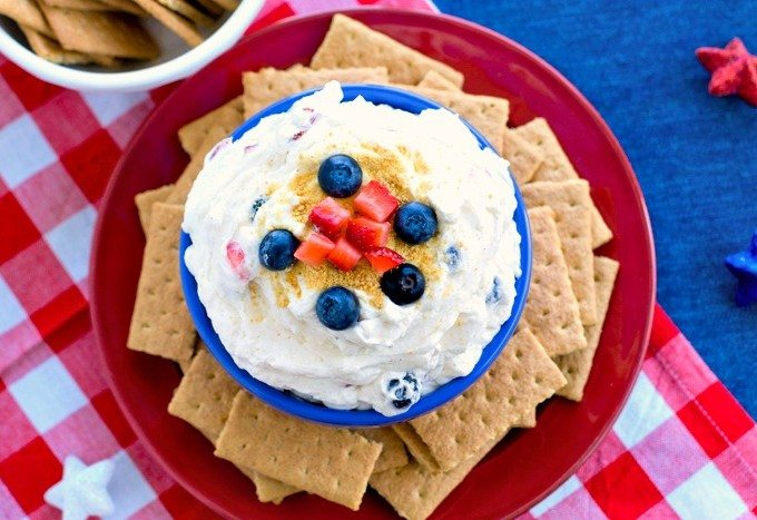 Fruit Spangled Cheesecake Dip