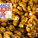 A close-up of Homemade Cracker Jacks with text overlay for Pinterest