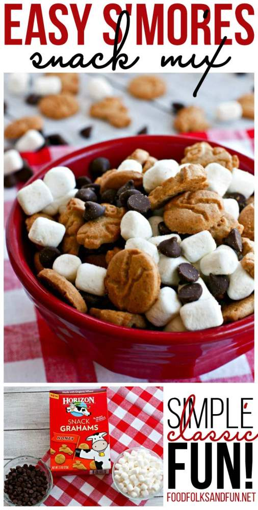 A close-up of a bowl of S\'mores Snack Mix