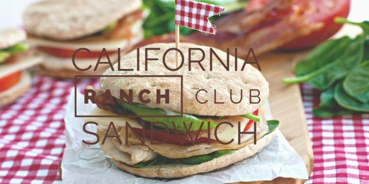 California Ranch Club Sandwich with text overlay for social media