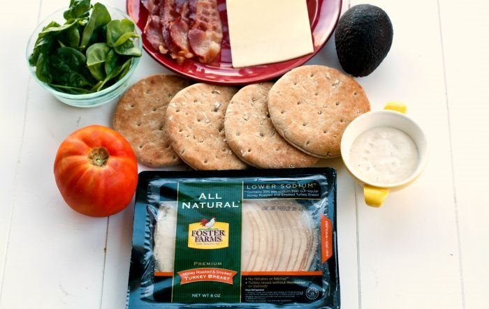 Ingredients needed for making California Club Ranch Sandwich