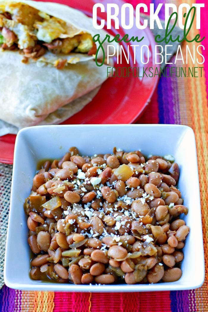 Pinto Beans in a bowl with text overlay for Pinterest.