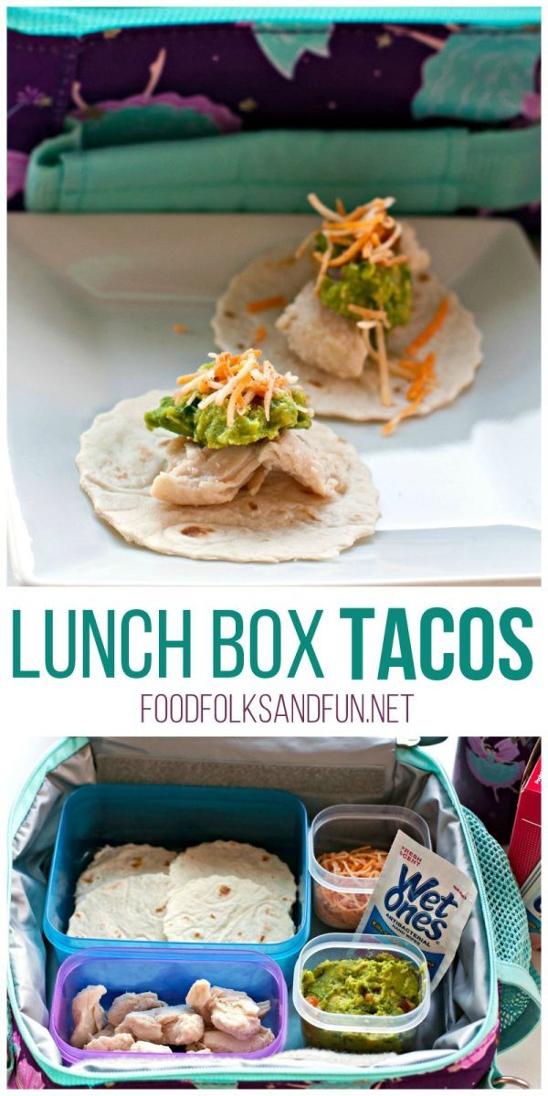 A collage of Lunch Box Tacos with text overlay for Pinterest