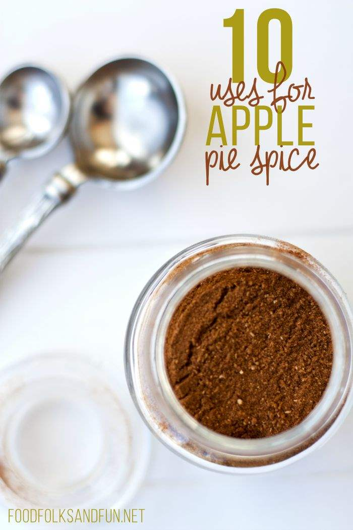 Homemade Apple Pie Spice with text overlay for Pinterest