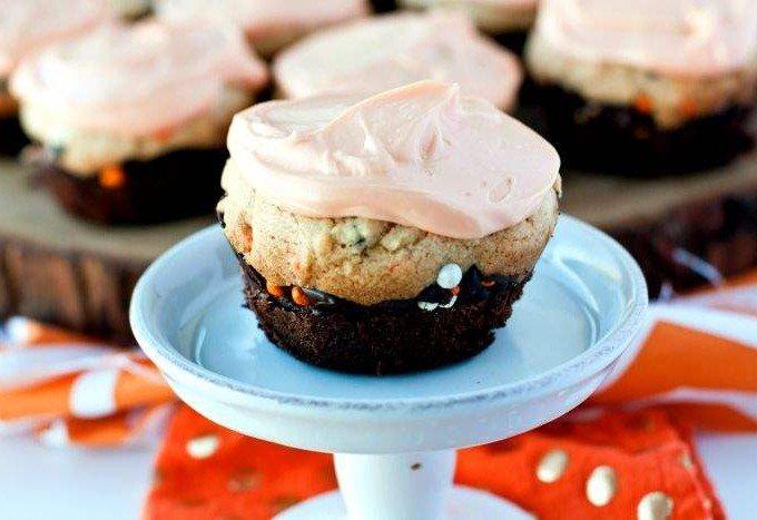 Brookie Cupcakes