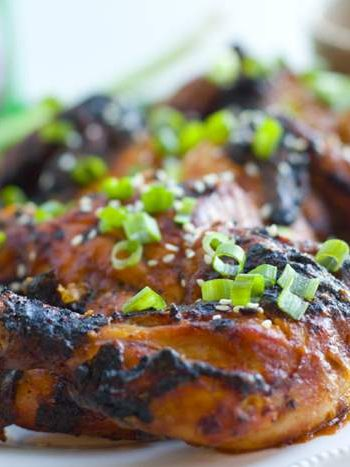 Grilled Cornish Game Hens with Asian BBQ Sauce: these hens are so succulent and covered with an easy, flavorful sauce.